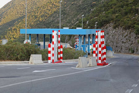 Border check point with  vehicle portal monitor system Stock Photo - 18096829
