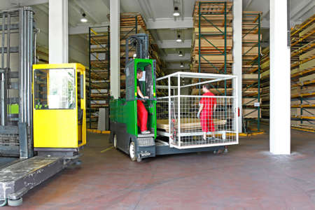 forklift driver: Multi directional forklifts for the material handling industry