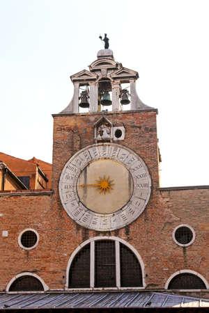 san giacomo: Clock of San Giacomo di Rialto San Polo Venice Italy Stock Photo