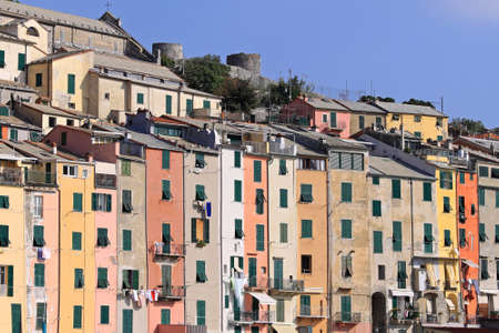 Colourful sunny houses in Porto Venere Italy Stock Photo - 18295325