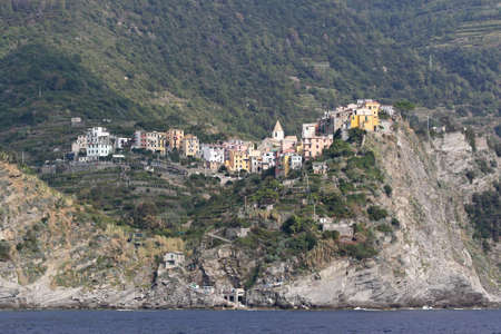 Village Corniglia at Liguria coast in Italy photo