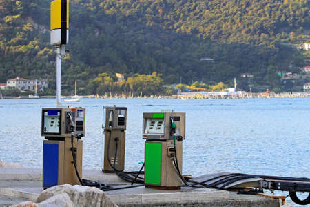 Marine fuel station for boats at Mediterranean sea Stock Photo - 18295289