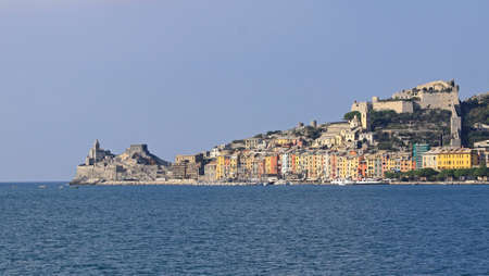 Panorama of Porto Venere with colourful houses Stock Photo - 18295322