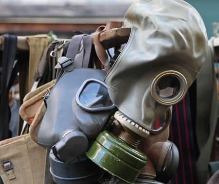 Gas mask respirator for toxic biohazard protection Stock Photo - 18307175