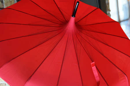 Close up shot of red parasol umbrella Stock Photo - 18307177