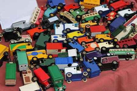 Vintage style model cars and toy trucks Stock Photo - 18307208