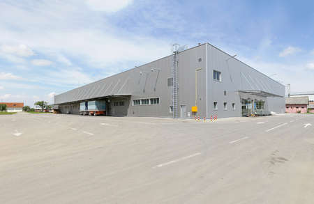 Silver building exter of distribution warehouse depot Stock Photo - 18352966