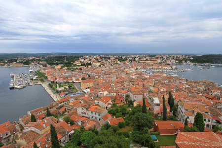 Aerial photo of old Rovinj city Croatia Stock Photo - 18397930
