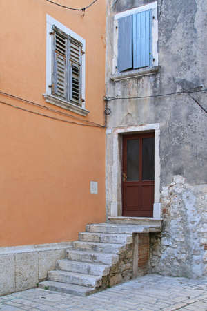 Entrance to old house with stone stairs Stock Photo - 18397867