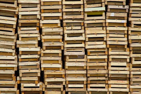 Big pile of wooden crates for fruits Stock Photo - 18425483