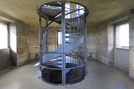 Spiral metal stair case in old tower Stock Photo - 18584670
