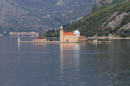 Our Lady of the Rocks Church island in Montenegro Stock Photo - 18638132
