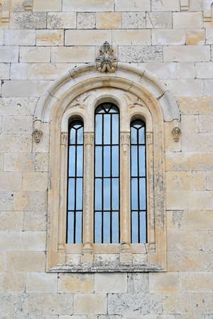 Three arch windows at medieval stone church in Montenegro Stock Photo - 18638135