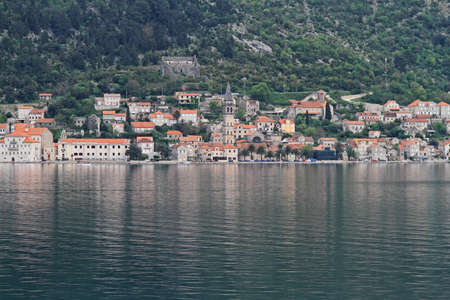 Perast cityscape at Kotor bay in Montenegro Stock Photo - 18638762