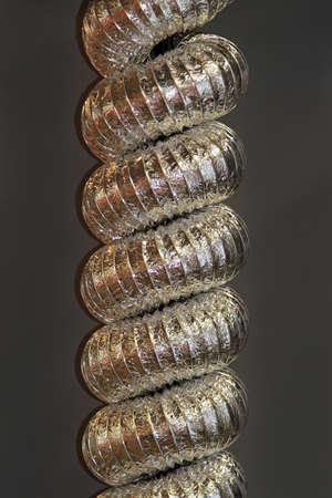 Aluminum air hose spiral for building ventilation Stock Photo - 18868119
