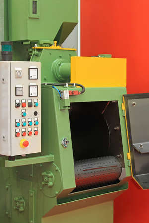 blaster: Automated sand shot blaster industrial equipment machine Stock Photo
