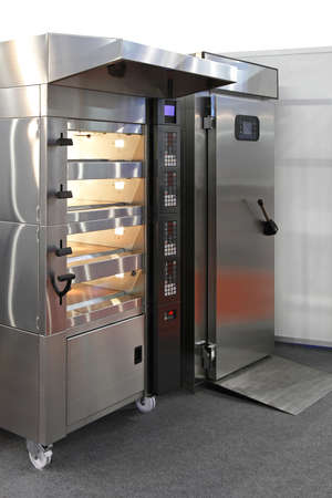 bakery oven: Four level bread oven in big bakery