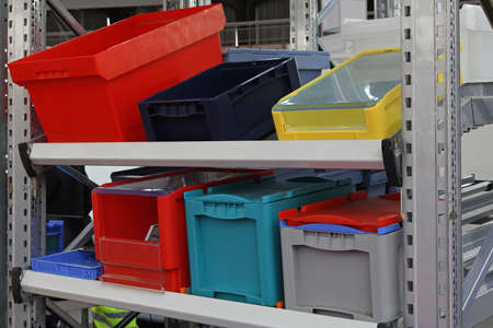 plastic box: Colorful plastic boxes and crates for shipping transportation