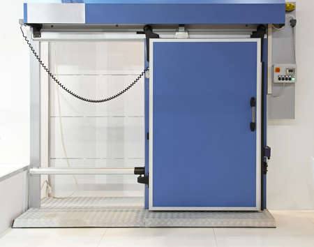 insulated: Insulated automated blue door at reefer refrigerator