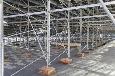 prefabricated: Galvanized steel support structure under prefabricated stands