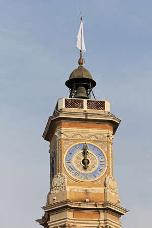 Roman clock and bell tower in Monaco Stock Photo - 19133229