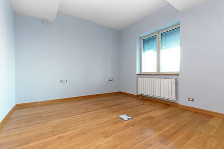 Empty room with blue walls in renovated home Stock Photo - 19122716