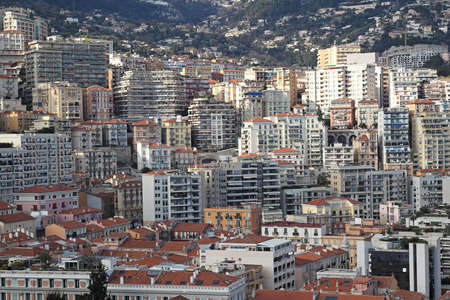 Real estate condos and over crowded buildings in Monaco Stock Photo - 19139443