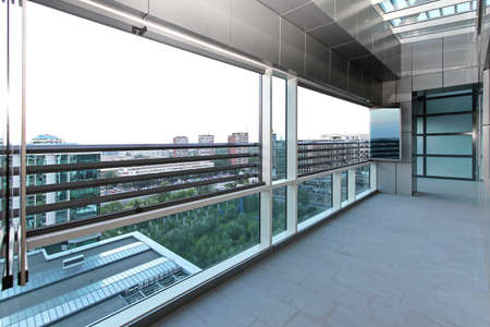 Long terrace with sky window in new penthouse apartment Stock Photo - 19122725