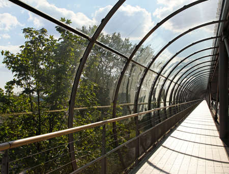 Pedestrian tunnel with glass and arch structure Stock Photo - 19154887