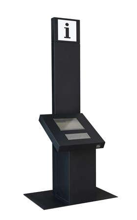An information kiosk dispenses free information at monitor Stock Photo - 19154767