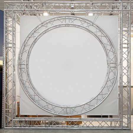 Round truss with empty space at stage Stock Photo - 19154771