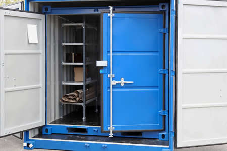 Open door at new shipping cargo container Stock Photo - 19187781