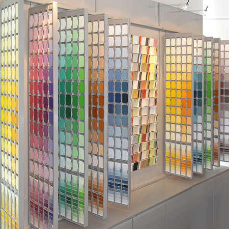 Palette wall of colour swatch for painting Stock Photo - 19187778