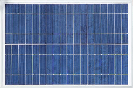 monocrystalline: Solar panel made from a monocrystalline silicon wafer