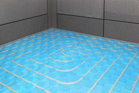 Installation of new underfloor central heating system