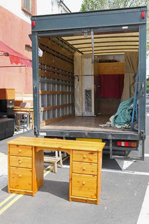 Offene hinteren Ende des beweglichen Möbelwagen