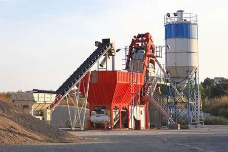 Concrete batch plant device for construction site photo