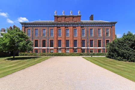 royal park: Kensington Palace official residence of Princess Diana in London Stock Photo