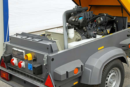 Electric power generator in trailer for emergency photo