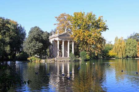 aesculapius: Esculapio templo en el parque de la Villa Borghese de Roma