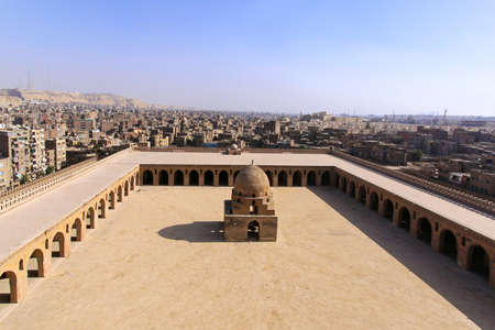 Courtyard of the Ibn Tulun Mosque in Cairo Stock Photo - 20239026