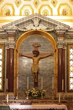 Crucifixion of Jesus Christ in Catholic Church in Rome
