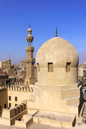 ibn: Mosque dome and tower of Ibn Tulun in Cairo