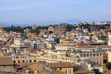 lazio: Roof top view of Rome city scape