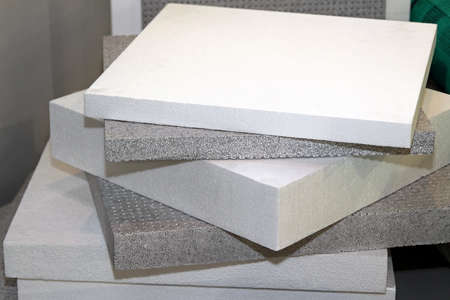 Polystyrene foam for thermal insulation and waterproofing