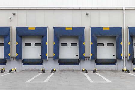 Three loading ramp doors at distribution center