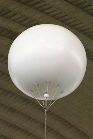 White helium balloon with empty space for advertising