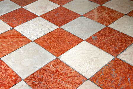 Red And White Marble Floor Tiles Stock Photo Picture And Royalty