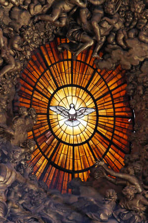 The Dove symbol of the Holy Spirit in Vatican