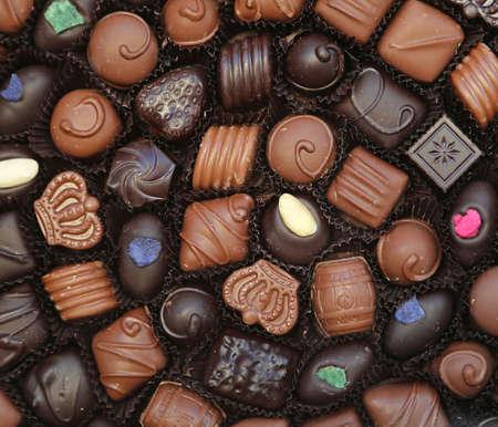 Gift box of chocolate pralines Standard-Bild